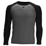 3/4 Sleeve Youth Baseball Tee, Team Black with Grey