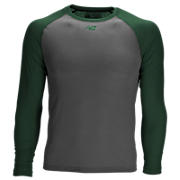 3/4 Sleeve Youth Baseball Tee, Team Dark Green with Grey