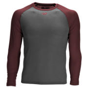 3/4 Sleeve Youth Baseball Tee, Team Cardinal with Grey