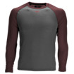 3/4 Sleeve Youth Baseball Tee, Team Maroon with Grey