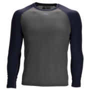 3/4 Sleeve Youth Baseball Tee, Team Navy with Grey