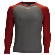 3/4 Sleeve Youth Baseball Tee, Team Red with Grey