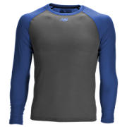 3/4 Sleeve Youth Baseball Tee, Team Royal with Grey