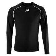 Long Sleeve Compression Top, Team Black