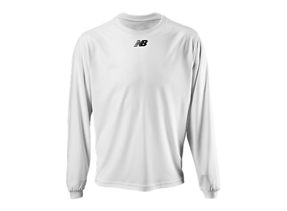 Long Sleeve Power Top, White