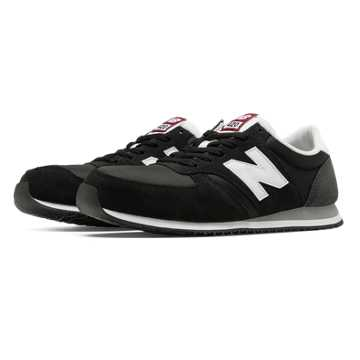 New Balance 420 70s Running, Black with White