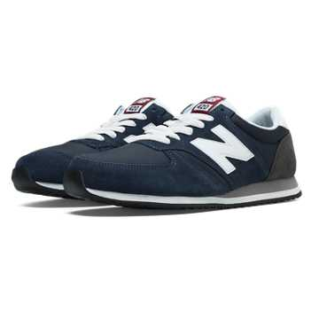 New Balance 420 70s Running, Navy with White