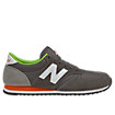 New Balance 420, Grey with Orange & Lime Green
