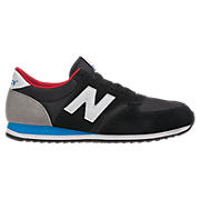 New Balance 420, Black with Electric Blue & Red