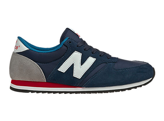 New Balance 420, Navy with Grey & Red