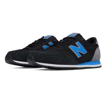New Balance 420 70s Running Textile, Black with Blue