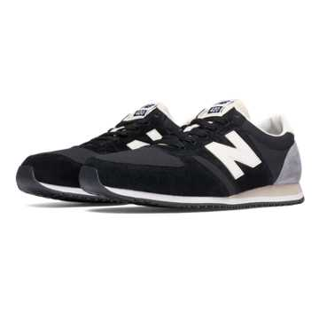 New Balance 420 Heritage 70s Running, Black with Grey & Off White