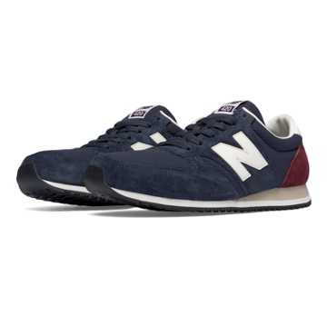 New Balance 420 Heritage 70s Running, Navy with Burgundy & Off White