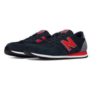 New Balance 420 70s Running Textile, Navy with Red
