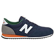 New Balance 420, Navy with White & Orange