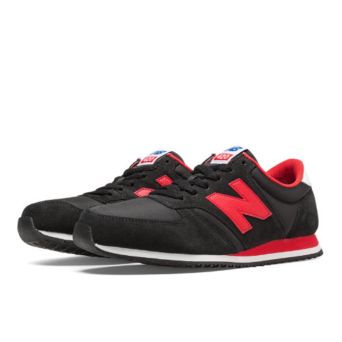 70s Running 420 Men's & Women's Running Classics Shoes - Black, Red (U420SNRK)
