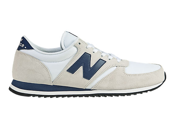 New Balance 420, Beige with Navy & White