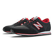 New Balance 420, Black with Red & Grey