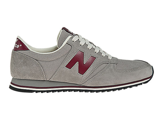 New Balance 420, Grey with Burgundy