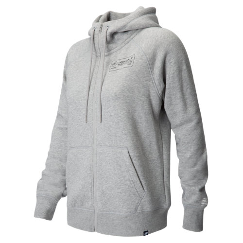 New Balance London Edition Essentials Full Zip Hoodie Girl's All Clothing - WJ73520DGT