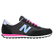 New Balance 410, Black with Blue & Pink