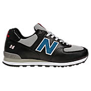Men's Race Inspired 574, Black with Grey & Blue