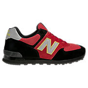 Men's Race Inspired 574, Red with Black & Grey