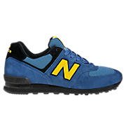 Women's Race Inspired 574, Blue with Black & Yellow