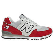 Women's Race Inspired 574, Red with Grey & White