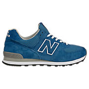 Men's Race Inspired 574, Blue with White