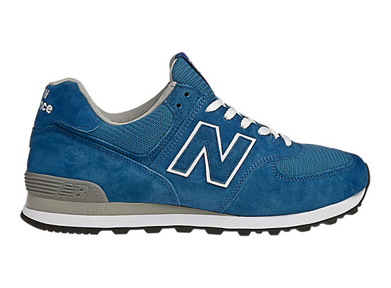 Women's Race Inspired 574, Blue with White