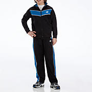 Youth Tricot Pant Set, Blue with Black