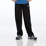 Youth Tricot Pant, Black with Blue