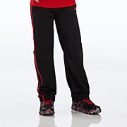 Youth Tricot Pant, Black with Red