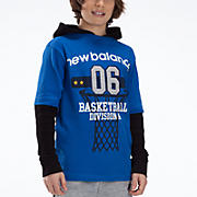 Youth Hangdown Hooded Shirt, Royal Blue