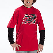 Youth Hangdown Crew Shirt, Red