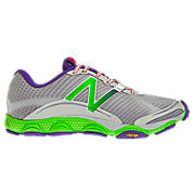 Minimus 1010, Silver with Neon Green & Purple