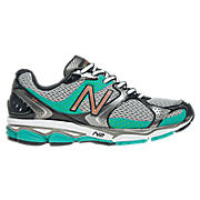 New Balance 1080v2, Silver with Teal & White