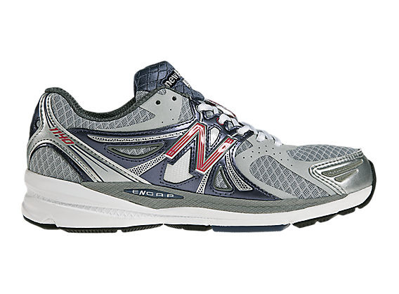 New Balance 1140, Silver with Blue & Red