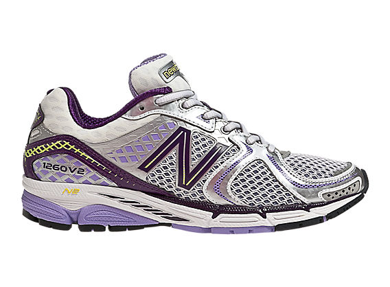 New Balance 1260v2, Silver with Lilac & Black