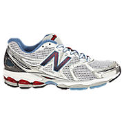 New Balance 1260, White with Carolina Blue & Red
