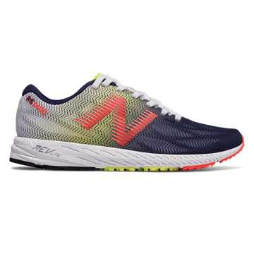 New Balance 1400v6, White with Pigment & Coral