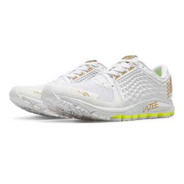 New Balance Womens Vazee 2090 Glory, White with Gold & Toxic