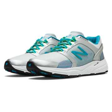 New Balance New Balance 3040, Silver with Blue Atoll & Lime Green