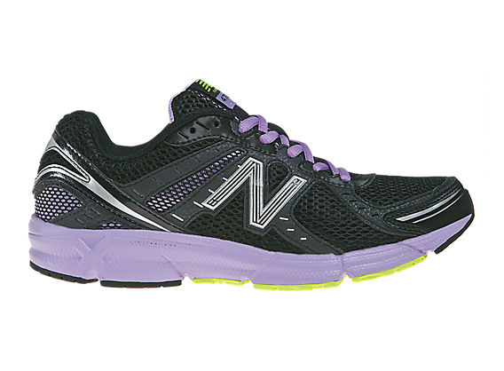 New Balance 470v3, Black with Lilac