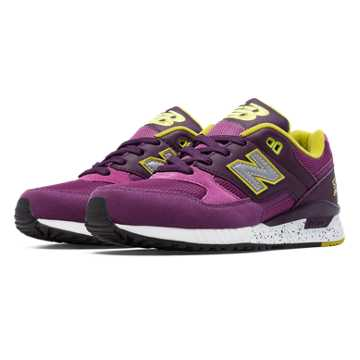 New Balance 530 90s Running Remix, Voltage Violet with Plum & Yellow