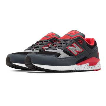 New Balance 530 90s Running Remix, Grey with Coral Pink & Black
