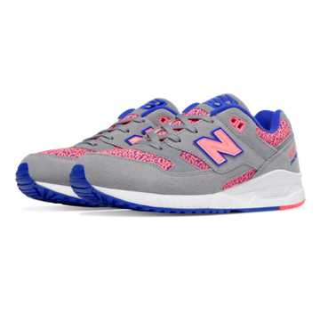 New Balance 530 Kinetic Imagination, Steel with Guava & UV Blue
