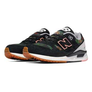 New Balance 530 Floral Ink, Black with Steel & Cosmic Coral