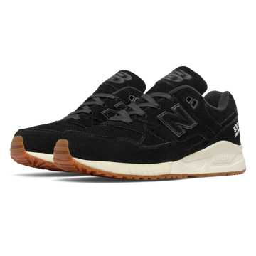 New Balance 530 Lux Suede, Black